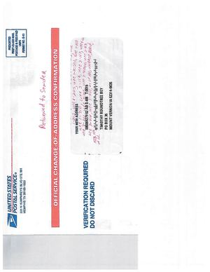 Calameo The United States Postal Service Tender Document I E Official Change Of Address Confirmation