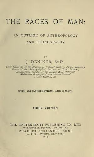 Calaméo - The Races Of Man Par J. Deniker 1913 460a28857f1