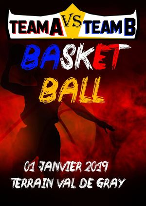 Affiche MATCH Val de Gray Basket