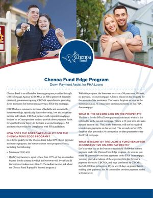 Chenoa Fund Resources Flyer Edge