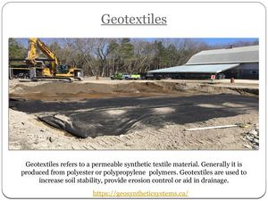 Ppt Presentation For Geotextiles