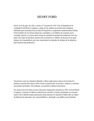 Henry Ford Economia
