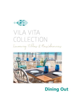 Dining Out - VILA VITA Collection