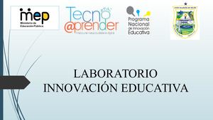 Laboratorio Innovación Educativa