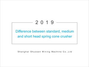 difference Between Standard, Medium And Short Head Spring Cone Crusher