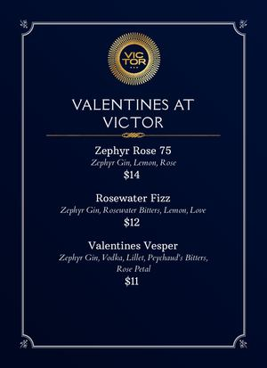 Valentines Day Menu Brandé Copie