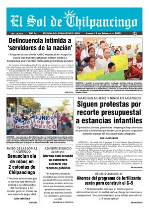 Calaméo - El Sol De Chilpancingo 11 Febrero 2019 1697516e52894