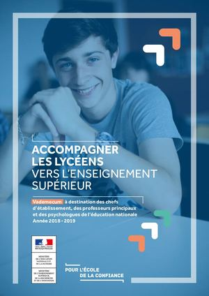 Vademecum Accompagner Leslyceens Vers Enseignement Sup 2018 2019