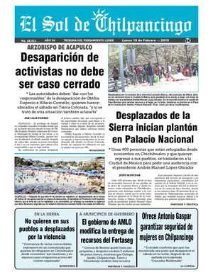 Calaméo - El Sol De Chilpancingo 18 Febrero 2019 48a3ca1a6761