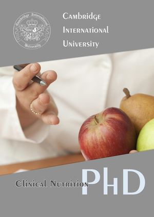 Doctor of Philosophy in Clinical Nutrition