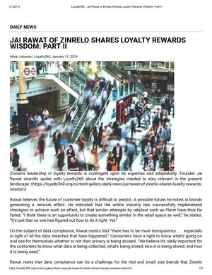Jai Rawat Of Zinrelo Shares Loyalty Rewards Wisdom_ Part II - Loyalty360