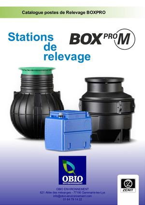 Stations de relevage Box Pro M