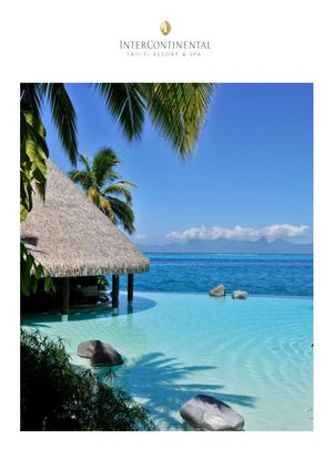 Inter Continental Tahiti Resort & Spa - Dossier De Presse FR