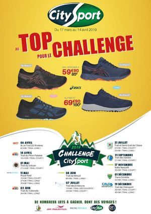 Catalogue City Sport - Au top pour le Challenge - Mars/Avril 2019