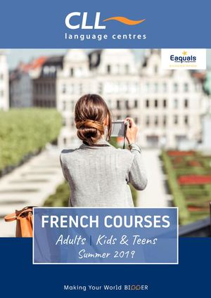 French courses - Summer 2019