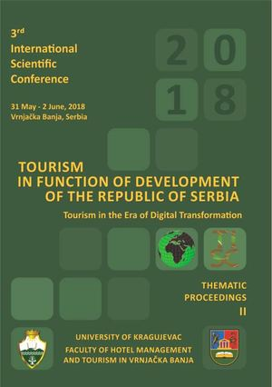 Development Of Animal Husbandry And Tourism As Concept Of Homolje Rural Development