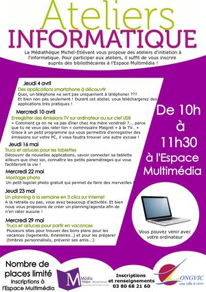 Atelier Informatique Avril Mai 2019