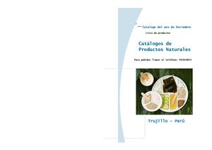 Catalogo De Productos Naturales