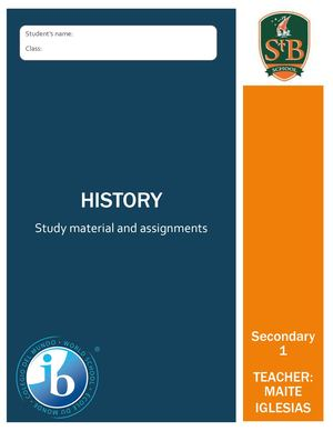 History Booklet Secondary 1 Year 2019