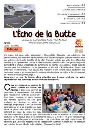 Echo De La Butte Avril Mai 2019