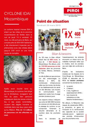 Cyclone IDAI_point de situation 29.03.2019