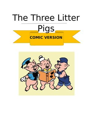 Three little pigs- comic versión