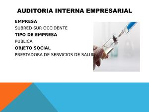 Auditoria Interna Empresarial