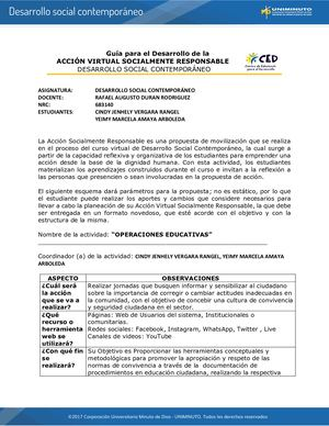 Guía Acción Virtual Socialmente Responsable