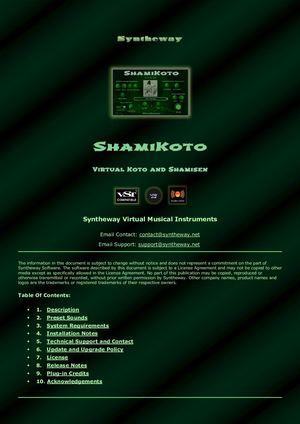 Calaméo - ShamiKoto Virtual Japanese Koto and Shamisen VST VST3
