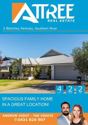 Bletchley Parkway 5, Southern River Buyer Booklet Abv