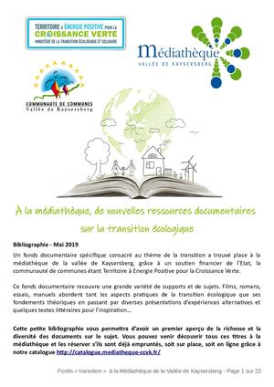 Bibliographie Transition Avril 2019