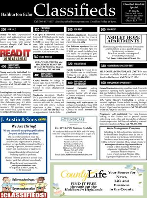 Classifieds March 26, 2019
