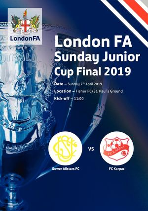 London FA Sunday Junior Cup Programme