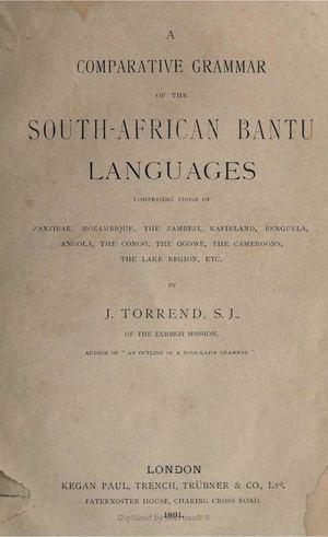 Calameo A Comparative Grammar Of The South African Bantu