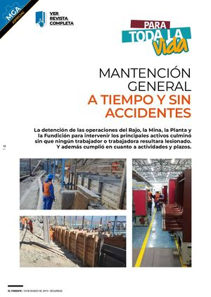 Mantención general a tiempo y Sin Accidentes