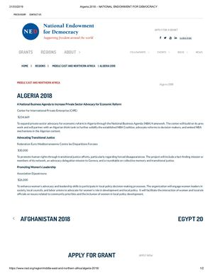 Calaméo - Algeria 2018 – National Endowment For Democracy