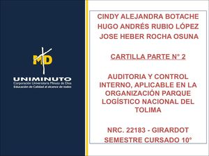 Cartilla De Auditoria Y Control Interno Parte N° 2