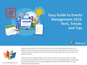 Easy Guide To Events Management 2019 Tech Trends Tips