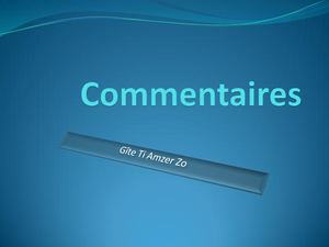 Commentaires Ti Amzer Zo