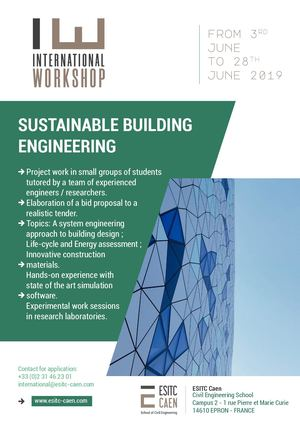 Workshop International - ESITC Caen - Sustainable Building Engineering