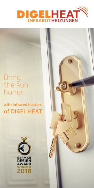 Flyer of DIGEL HEAT Infrared heaters