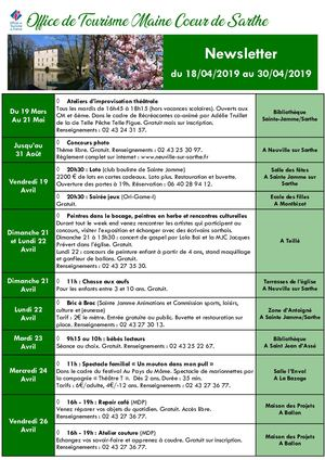 Newsletter Du 18 Avril