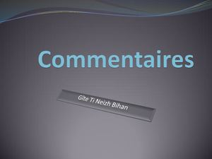 Commentaires Ti Neizh Bihan