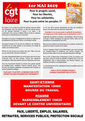 Tract UD CGT Loire 1er Mai