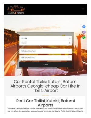 Car Rental Tbilisi, Car Rental Georgia, Rent Car Tbilisi Auto4rental Com