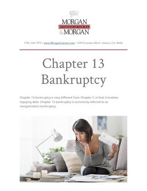 Chapter 13 Bankruptcy Syllabus