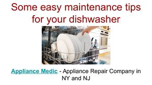 Maintenance tips for dishwasher - Dishwasher Repair Services in NY and NJ