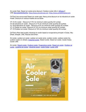 Air Cooler Sale Desert Aie Cooler Price Discount Ourdoor Cooler Offer In Dubai, Uae