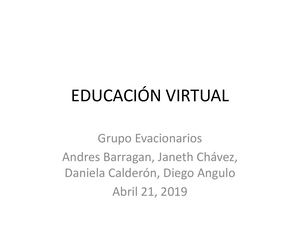 Educación Virtual Video Semana 2 GRUPO OVACIONARIOS