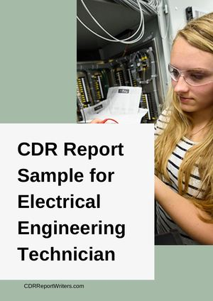 Cdr Sample Electrical Engineering Technician